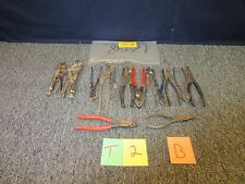 14 MILITARY SURPLUS  CUTTER VISE GRIP PLIERS SNIPPER WILDE WILLIAMS NEEDLE  USED