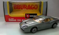 BURAGO 1:43 DIE CAST MADE IN ITALY FERRARI 550 MARANELLO GRIGIO METAL  ART 4154