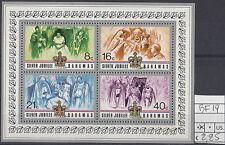 Bahamas 1977 Foglietto Giubileo d'argento Regina Elisabetta II Yvert  19  MNH