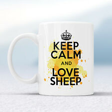 Keep Calm And Love SHEEP Splash Mug Gift Wool Animal Welsh Farm Cup Present