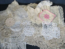 Doilies Crochet Vintage Potholder Panels Star Flower Lot of 20 Cutters Craft