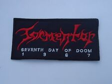 TORMENTOR SEVENTH DAY OF DOOM EMBROIDERED PATCH