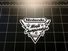 Nintendo World Championships 1990 NES retro video game B&W decal / sticker