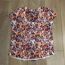 Woman's orange/violet imprimé léopard taille l Zara top