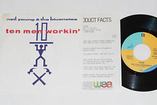 """NEIL YOUNG & THE BLUENOTES -Ten Men...- 7"""" 45 mit Product Facts Promo-Flyer"""