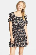 2015 NWT WOMENS BILLABONG GLASS PETAL DRESS $50 M off black floral