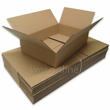 """25 x Long Shallow Postal Removal Packing Storage Cardboard Boxes 18x12x4"""" SW"""