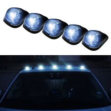 5pcs Smoked Lens+White LED Light Car Truck Off Road Roof Top Cab Marker Lights