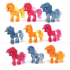 9PCS Clear Crystal MY LITTLE PONY CUTE Figure great movie Collection toy G3 G4