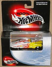 BIG MUTHA MERC LOWRIDER, White w Flames, Hot Wheels 1:64, SHIPS FAST, NEW in Box