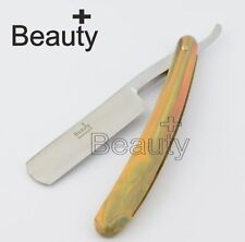 MENS GOLD CUT THROAT BLADE, USED FOR SHAPE UP BEARDS, HAIR, SAVE £29