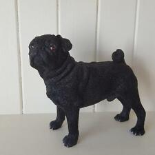 STANDING BLACK PUG ORNAMENT GIFT BOXED BY LEONARDO