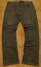 2012 GAP Mens STRAIGHT Leg Gray Jeans Size 32x30 ~ 33/32 actual 34x29 CLEAN GREY