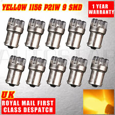 10x AMBER 9 LED 382 1156 BA15S P21W 12V  FRONT INDICATOR LIGHT BULBS YELLOW