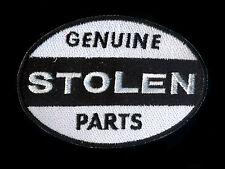 Genuine Stolen Parts Patch Automotive Hot Rod Motorcycle Drag Race Ed Roth