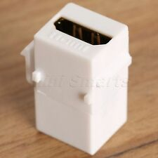 F/F HDMI Port Insert to Keystone Jack Coupler Jack Plate Adapter Converter White