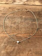 Gold Plated Tiny Heart Link Link Chain Necklace Pendant