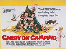 """Carry On Camping 16"""" x 12"""" Reproduction Movie Poster Photograph"""