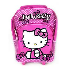"Sanrio Hello Kitty 16"" Large Size School Rolling Backpack Roller : Pink Bow"