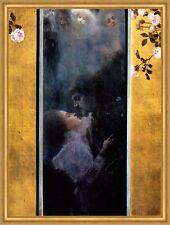 Liebe Liebespaar Liebesszene Verlangen Kuss Sehnsucht LW Gustav Klimt A2 052