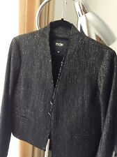 Maje Diablotin Black Metallic Jacket EUR 40