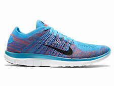 Mens Nike FREE 4.0 FLYKNIT Running Shoes -Blue Lagoon -631053 403 run-Sz 12 -New