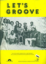 "EARTH,WIND & FIRE ""LET'S GROOVE"" PIANO/VOCAL/GUITAR SHEET MUSIC RARE VINTAGE!!"