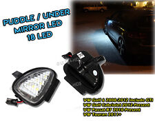 VOLKSWAGEN VW GOLF MK6 R32 UNDER MIROIR LED FLAQUE PHARES / FEUX BLANC touran