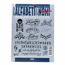Tattoo Lettering Flash Book Design Art