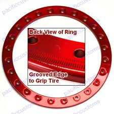 "Empi 9774 Race Trim Bead Lock Wheel Ring 15"" Powder Coated Candy Red, Each"