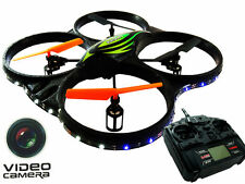 Rotor 2.4GHz,6 CH,6 AXIS Headless Drone Helicopter RC Quadcopter w/ HD Camera,
