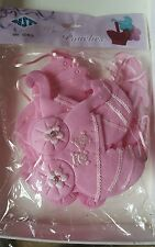 12 Fillables Pouches Baby Shower/ Baptism Favors pink girl For Party Decorations