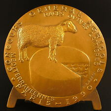 Médaille Race ovine 1990 fromage de brebis mouton sheep cheese animal medal