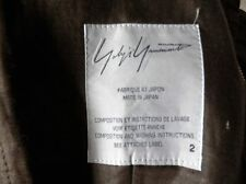 YOHJI YAMAMOTO Made in Japan Brown Short Sleeve Designer Top Size 8