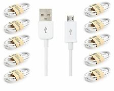 10 x White USB Micro Sync Cable Charger For Samsung Galaxy S7 Edge S7 S6 Edge S4