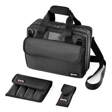 TWM Compact IPSC Range Bag with 2 Airsoft / Pistol Magazine Pouches (Black)