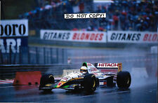 9x6 Photograph Philippe Adams  Lotus-Mugen Honda 109  , Belgian GP Spa 1994