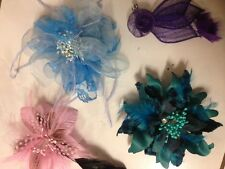 Bulk Sale Wedding Melbourne Cup Carnival Races Fascinator Brooch Pink Blue 15PC