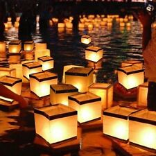 Outdoor Water Floating Candle White Chinese Paper Lanterns Biodegradable 10pcs