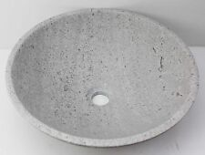 Solid Stone MARBLE Counter Top Basin Vanity Bowl Grey 420 x 140 sink MATTE SINK