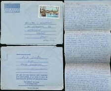 FRENCH POLYNESIA 1972 AIRLETTER to HAVANT + MESSAGE MAIL INT.DATELINE SHIP etc