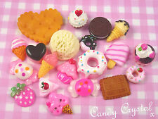 20 x Food Kawaii Style Resin Cabochons Beads for DIY Decoden Crafts - UK SELLER!