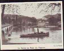 1948  --  PENICHE  BATEAU A VAPEUR SUR LA SEINE A VERNON   £239