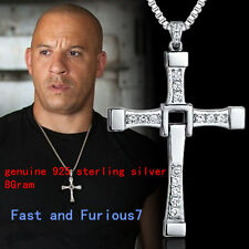 genuine 925 sterling silver Fast and Furious Vin Diesel Dominic Toretto's Cross