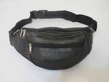 Genuine Leather New Fanny Pack Waist Bag Hip Belt Pouch Travel Purse Men Women.