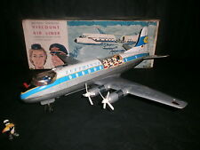AVION VISCOUNT AIR LINER LUFTHANSA , TOMY , AIRPLANE JAPAN ,1960's , VIDEO !