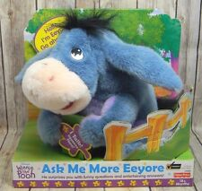 """NEW Fisher Price ASK ME MORE EEYORE 14"""" Interactive Talking Stuffed Animal Toy"""
