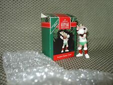 "Hallmark Ornament 1991 ""Reindeer Champs -Cupid"" 6th in series NIB w/tab"