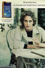 Publicité advertising 1990 Le Café Jacobs Nigt & Day