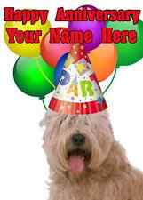 Soft Coated Wheaten Terrier Happy Anniversary Party sll   Personalised Greetings